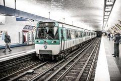 Paris tunnelbana Royaltyfria Foton