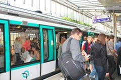Paris tunnelbanastation Arkivbilder