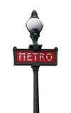 Paris tunnelbanatecken Fotografering för Bildbyråer