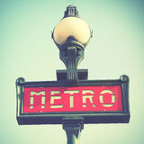 Paris tunnelbanatecken Arkivbilder