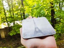 Paris turnerar Eiffel Arkivbild