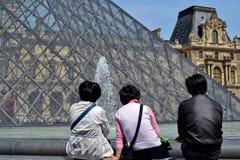 paris turyści Zdjęcie Stock