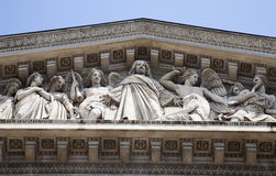 Paris - tympanum of Madeleine church Royalty Free Stock Photos