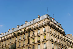 Paris, typical building style Stock Image