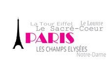 Paris typografi Royaltyfri Fotografi