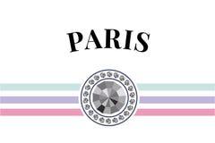 Paris typography slogan drawing modern Fashion Slogan for T-shirt and apparels graphic vector Print. Paris skecth drawing modern Fashion Slogan for T-shirt stock illustration