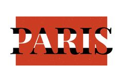 Paris typography slogan drawing modern Fashion Slogan for T-shirt and apparels graphic vector Print. Paris skecth drawing modern Fashion Slogan for T-shirt royalty free illustration