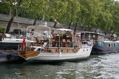 Paris und der Fluss Seine Stockbild