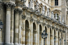 Paris und der Luftschlitz Musueum Komplex Stockbilder