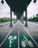 Paris. Under a bridge in Paris Stock Photo