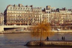 Paris under en solig vinterdag Fotografering för Bildbyråer