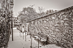 Paris under the snow Royalty Free Stock Images