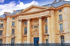 Paris University. (Faculty of Law) near the Pantheon. Paris. France royalty free stock image