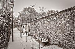 Paris unter dem Schnee Lizenzfreie Stockbilder