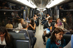 Paris-Untergrundbahn Lizenzfreies Stockfoto