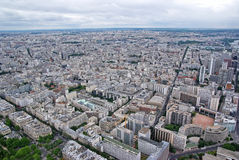 Paris upper view Royalty Free Stock Photo