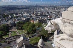 Paris uppifrån av den sakrala hjärtakyrkan Royaltyfria Foton