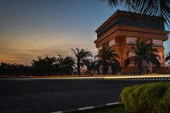 Paris van Kediri. The evening situation at Kediri, Indonesia Stock Images