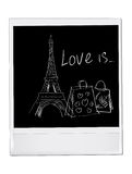 Paris vector card. On white Stock Images