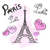 Paris vector illustration Royalty Free Stock Photo