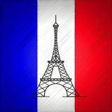 Paris vector illustration Royalty Free Stock Image