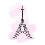 Paris vector illustration Royalty Free Stock Photos