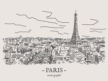 Paris-Vektorillustration Stockfotos