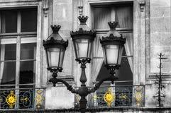 Paris. Vendome Place. The lamps on Vendome Square Royalty Free Stock Image