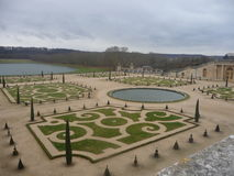 Paris - Versailles (Garden Landscaping) Royalty Free Stock Photos