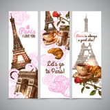 Paris Vertical Banners Royalty Free Stock Image