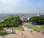 Paris Vertical Panoramic View of Paris from The Top of Monmatre. Stock Photography