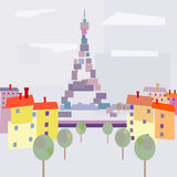 Paris view with abstract style. Royalty Free Stock Photo