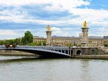 Paris view - bridge of Alexander III Stock Photo