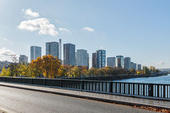 Paris, view from the bridge in the area Javel Royalty Free Stock Photos