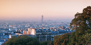 Paris view from butte Montmartre Stock Photography
