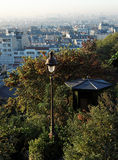 Paris view from butte Montmartre garden Royalty Free Stock Photos
