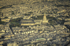 Paris view with Church Saint-Louis des Invalides Royalty Free Stock Images