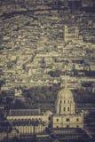 Paris view with Church Saint-Louis des Invalides Stock Photo