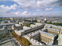 Paris view on Cite island in daylight. View on Cite island from Notre-Dame de Paris in daylight royalty free stock photo