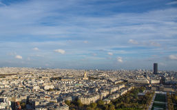 Paris, view of the city from the Eiffel Tower Royalty Free Stock Image