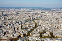 Paris view from the Eiffel tower Stock Photo