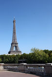 Paris: view of eiffel tower with copy space Stock Photos