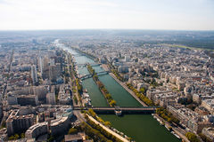 Paris view from the Eiffel tower Royalty Free Stock Photography