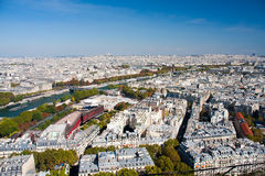 Paris view from the Eiffel tower Royalty Free Stock Photos