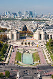 Paris view from the Eiffel tower Royalty Free Stock Photo
