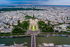 Paris view from Eiffel Tower Stock Image
