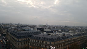 Paris view Galeries Lafayette Eiffeltower. A nice view of Paris on top of the Gallery La Fayette stock photos