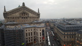 Paris view Galeries Lafayette. A nice view of Paris on top of the Gallery La Fayette royalty free stock photo