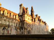 Paris view - Hôtel de Ville Royalty Free Stock Image
