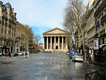 Paris, A view of the Madeleine Church from Royal Street Royalty Free Stock Photo